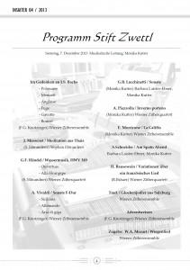 Programm Stift Zwettl 2013